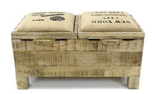 DARO DEKO Mango-Holz Bank 80 x 40 x 45cm - 4
