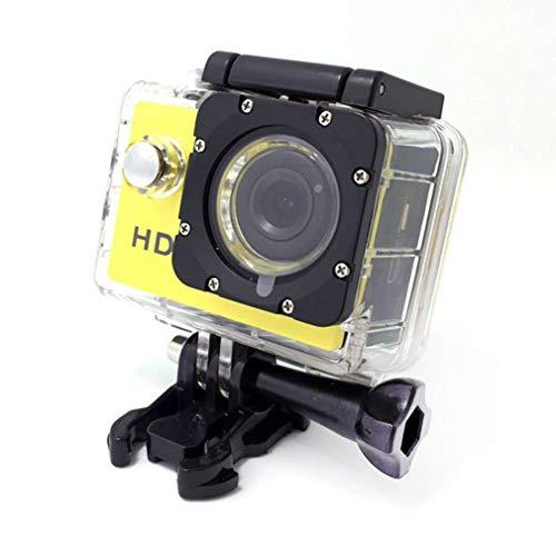 Nsdsb Cámara Deporte Mini DV 1080P Cámara de Video Bicicleta Casco Coche CAM Dvr Al Aire Libre Amarillo