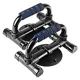 NAKO プッシュアップバー 腕立て伏せ シットアップ 吸盤 筋肉トレーニング ダイエット 金属製 2個セット (ブルー)