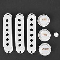 優れた技量のギターピックアップセット、ギターピックアップカバー、頑丈で損傷しにくいギター楽器愛好家のためのインストールが簡単(白い)