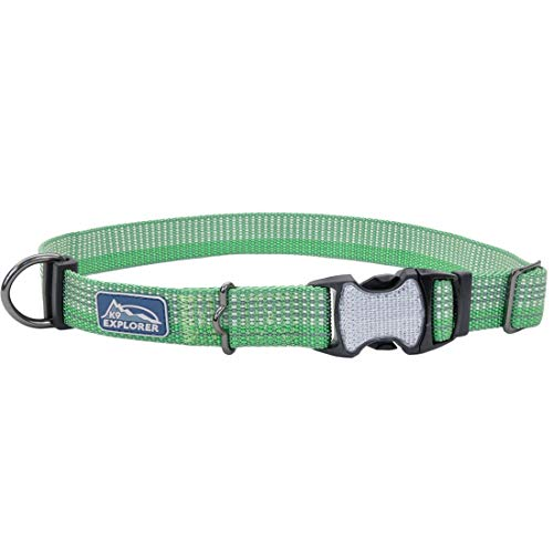 Coastal - K-9 Explorer - Brights Reflective Adjustable Dog Collar, Meadow, 5/8' x 10'-14'