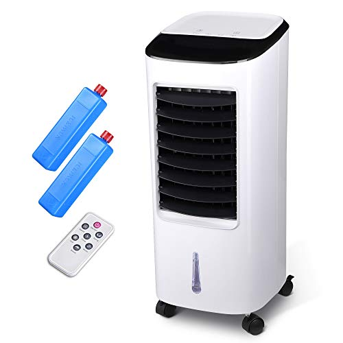 ReaseJoy 65W Water Tank Evaporative Air Cooler Fan Portable Air conditioner Fan Humidifier with Remote Control