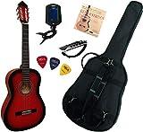 Pack Guitare Classique 4/4 (Adulte) Avec 5 Accessoires (rouge)