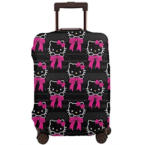 Hello Kitty - Custodia protettiva per valigia, lavabile e interessante, con elastico, bianco, L,