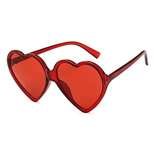 FKJSP Amor del corazón Gafas de Sol de Las Mujeres Atractivas de la Manera Retro Lindo del Ojo de Gato Barato de la Vendimia Gafas de Sol Rojo púrpura del té Lente UV400 Mujer (Lenses Color : Red)