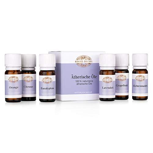 BÄRBEL DREXEL® Set Ätherische Öle (6x 10ml) 100% Naturreine Öle Herstellung Deutschland Duftöle Diffuser Aromatherapie Langanhaltend