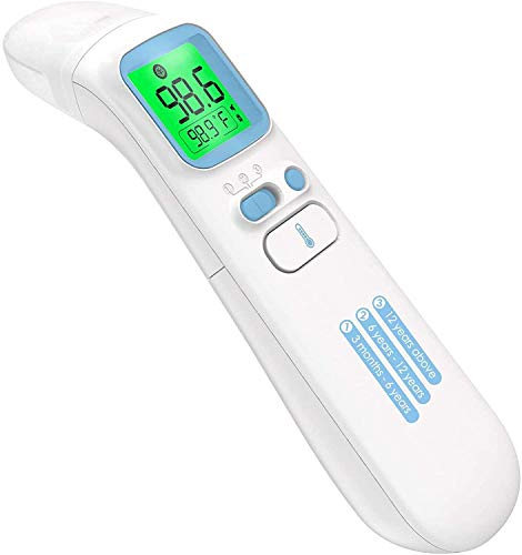 Touchless Thermometer for Adults,Forehead and Ear Thermometer for Fever,Infrared Magnetic Thermometer for Baby Kids Adults Surface and Room Easy Operation 1s Measurement,Professional Certification