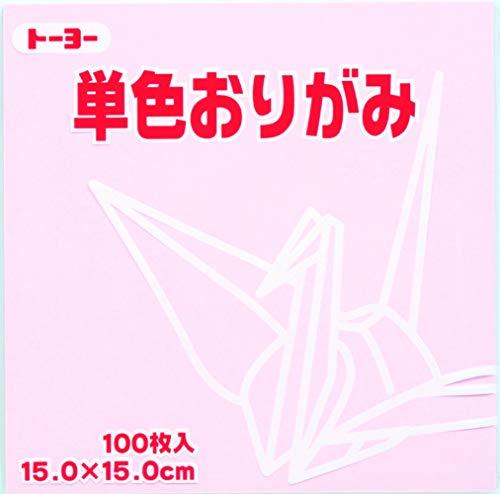 Toyo Origami Paper Single Color - Cherry Blossom - 15cm, 100 Sheets (1)