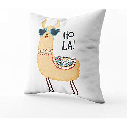 Kussensloop Kussenslopen Schattige Lama Character Print Stof Poster Inpakpapier Kaart Baby Douche Slaapbank Bed