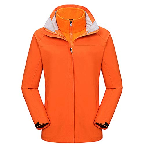 Battnot-Damen Winterjacke DREI-in-einem Zweiteilige Bergsteigen Fleece Liner Warme Reißverschluss Langarm Mäntel, Frauen Parka Oversize Freizeit Übergangsjacke Pullover Tops Overcoat Outwear XXXL 3XL