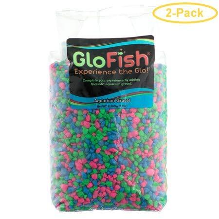 GloFish Aquarium Gravel, Fluorescent Colors, 5-Pound - 2 Bags