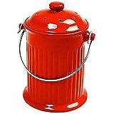 Norpro, Rojo 93R, 1 galón de cerámica para Compost