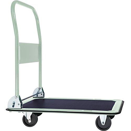 tectake Plattformwagen Handwagen | zusammenklappbar | Rutschfeste Gummiauflage | -verschiedene Modelle- (Typ 1 | no. 400759)
