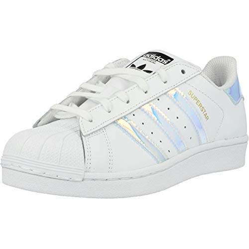 adidas Superstar, Zapatillas Unisex Adulto, Blanco Footwear White Footwear White Metallic Silver Solid 0, 38 EU