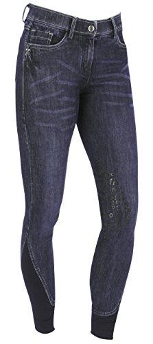 Covalliero Damen Cov. Reithose Denim blau, Kniebesatz, Größe 46