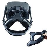 ZBRGX Oculus Quest ヘッドバンド ヘッドストラップフォームパッド PUレザー 滑り止め 重みを減少 オキュラス クエスト アクセサリー ブラック (ブラック)