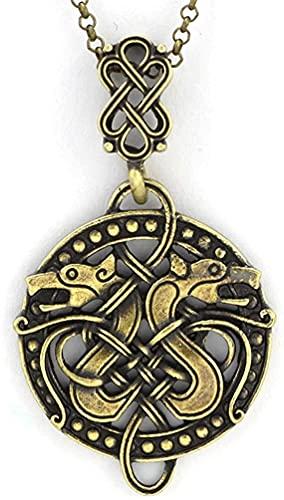 AMOZ Collares, Joyería, Utilizado para el Colgante Nórdico de la Joyería Del Encanto Del Collar Del Lobo Vikingo Del Vintage para Los Hombres