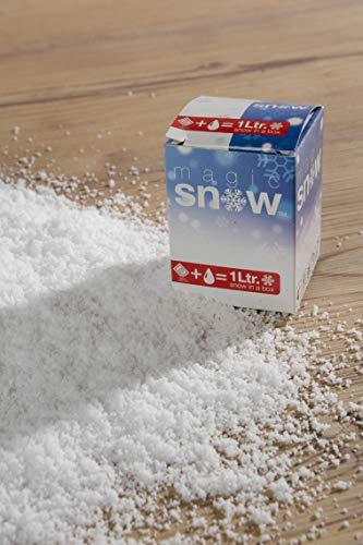 Riffelmacher & Weinberger 68052 Magic Snow Magischer Schnee im Karton-Weihnachten und Basteln, Weiß