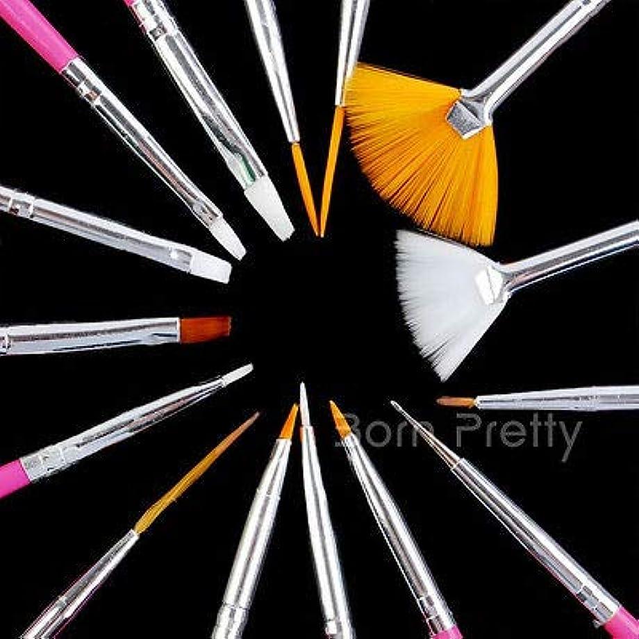 予知キロメートルコンサートFidgetGear 15本/セットピンクネイルアートデザインブラシ点描絵画デッサンライナーペン