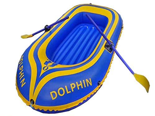 Kayak inflable, barco inflable premium Conjunto, 180cm PVC inflable Rafting Pesca bote Tender barco pontón con la bomba de aire Remo Rafting barco de goma para los deportes acuáticos de diversión,Azul