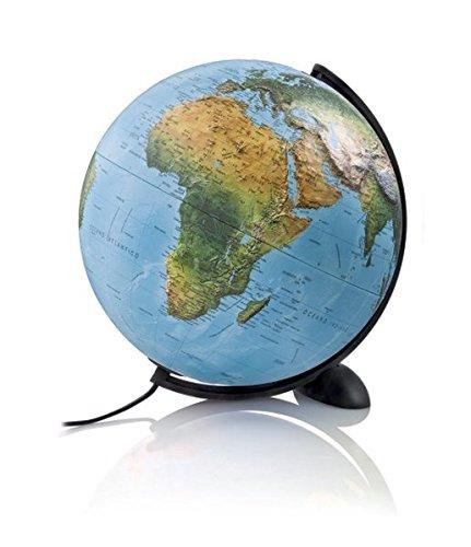 Ellipse R: Ellipse R -Globus mit 3D-Oberfläche: Leuchtglobus mit 3D-Oberfläche (Reliefglobus)