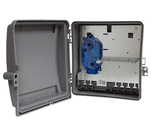 Wall Mount Fiber Patch Panel, Up to 24 Ports, Includes 1 Splice Tray