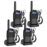 Pofung F8X Walkie Talkies for Adults Long Distance with Headphones FRS Channel VOX Hands Free Rechargeable Two Way Radios with Micro USB Charging Ports and Flashlight(4 Pack)