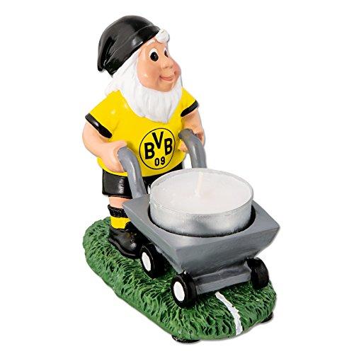 Borussia Dortmund, BVB-Gartenzwerg mit Teelichthalter, Gelb, 0