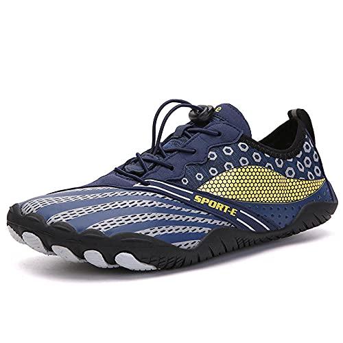 Zapatos de Piscina,Montañismo Senderismo Zapatos de Playa Hombres y Mujeres Fitness Calzado Deportivo al Aire Libre-Deep Blue_43#,Cómodo