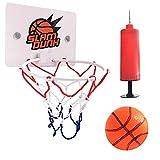 ZYMQ Baloncesto de plástico Interior Baloncesto Mini Hoop Baloncesto Caja Net Set Mini Tablero de Baloncesto para Deportes Juguetes para niños Niños