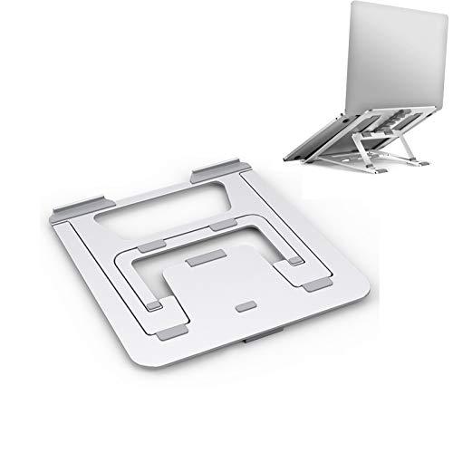 U/N Adjustable Laptop Stand, Lightweight Portable Aluminum Ergonomic Ventilated Foldable Laptop Riser for Laptop MacBook Pro/Air, HP, Dell, Lenovo, Samsung