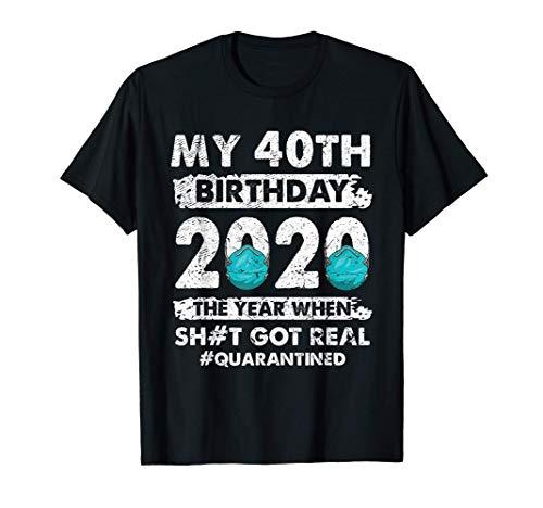 Ph Vintage 1980 40th Birthday 2020 Costume Quarantined T-Shirt