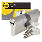 Yale YC1000+ Cylindre de Serrure Débrayable 30x30 mm pour Porte Extérieure/Entrée,...