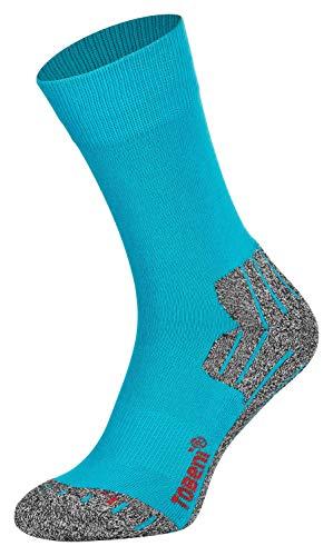 Tobeni 2 Paires Hightech Sports Chaussettes Trekking Randonnee Fonctionnelles pour les Homme Couleur Pacifique - Bleu Taille 43-46