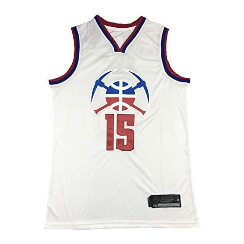 FGSD Jokic # 15 Nuggets - Camiseta deportiva transpirable sin mangas para hombre (talla S-XXL) M
