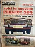 AUTO JOURNAL (L') [No 451] du 28/03/1968 - VOICI LA NOUVELLE PEUGEOT 504 - LA FORCE DE FRAPPE FRANCAISE - ALPINE TROIS LITRES ET MATRA F 1 - DEUX BANCS D'ESSAI COMPLETS - ALFA-ROMEO 1750 RENAULT 8-1100 - TOYOTA COROLLA - ISUZU FLORIAN - NISSAN GLORIA - SUZUKI FROTNE 360 - MAZDA RX 85 - MAZDA RX 87 - JAPONAISE EN 68 - NISSAN DATSUN BLUEBIRD 1 600 SSS - TOYOTA CROWN - MAZDA FAMILIA - A QUAND REMONTE VOTRE DERNIER VOYAGE A NEW YORK ?