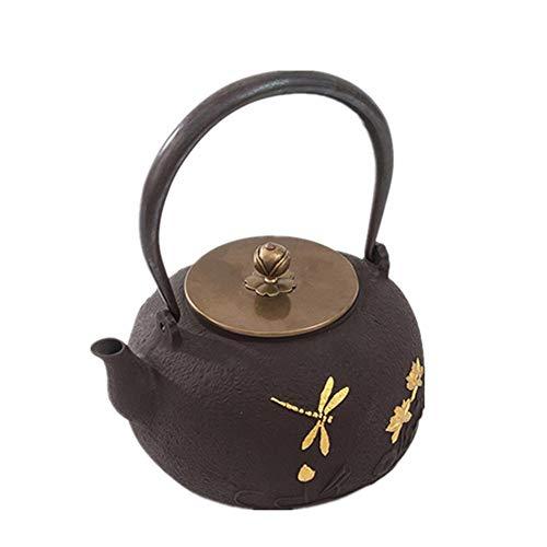 Yinglihua gietijzeren theepot roestig ouderwetse gietijzeren theepot glad mat oppervlak decoratie familie thee waterkoker voor kachel Top