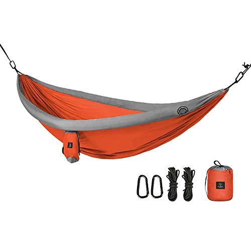 Draagbare Outdoor Reizen Hangmat Veranda Tuin Achtertuin Swing Thuis Anti-Rollover Wild Camping Hang Stoel Opblaasbare Buis Tweepersoonsbed, Oranje