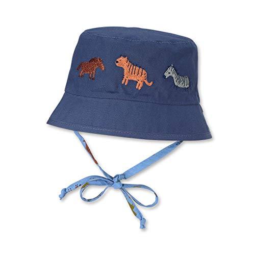 Sterntaler Baby Jungen Wende-fischerhut 1602150 Hut, Blau, 45 EU