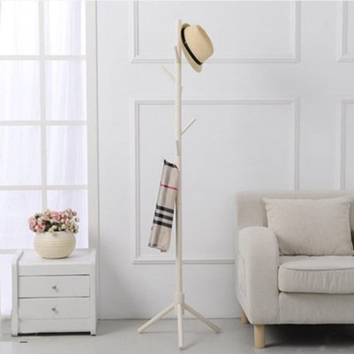 SHLMM Coat Rack Stand, Coat Tree, Hall Tree Free Standing for Clothes, Hat, Bag Or Other Items