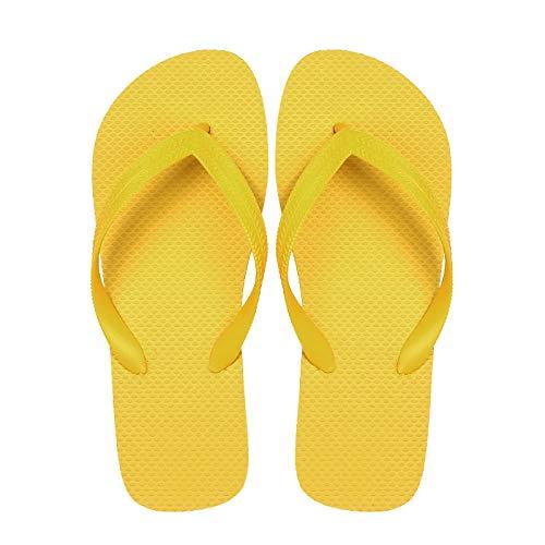 MedusaABCZeus rutschfeste Dusch-& Badeschuhe,rutschfeste britische Strandschuhe, Herren Flip Flops-Gelb_42,Sommer Flip Flops Badelatschen