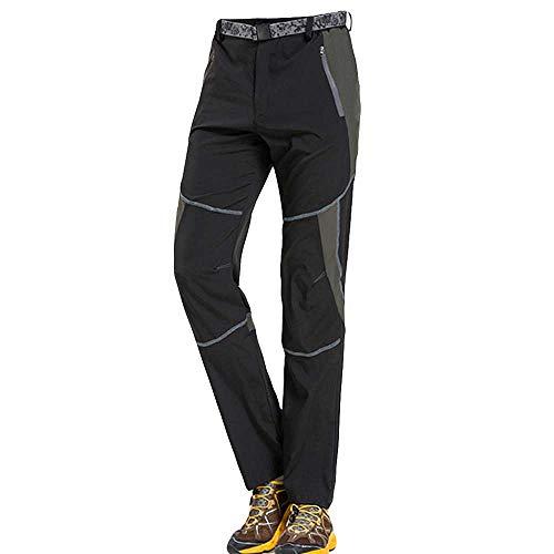 Herren Outdoors Schnell trocknende Hose Trekkinghose Herren Softshell-Hose Berghose Funktion Hose Skinny Jeans(Schwarz,L)