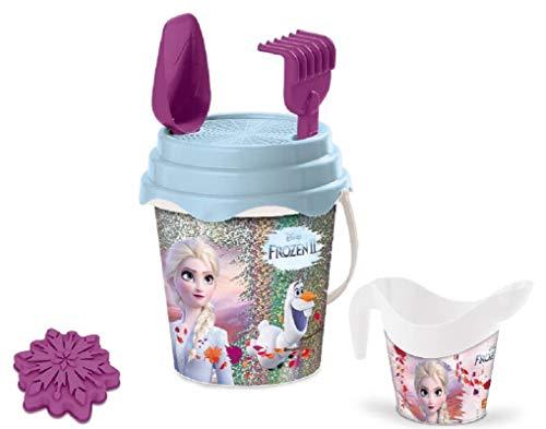 Mondo Mondo-28455 2 Bucket Glitter Frozen II-Set Plage – Seau Renew Toys et Accessoires : Tamis,...