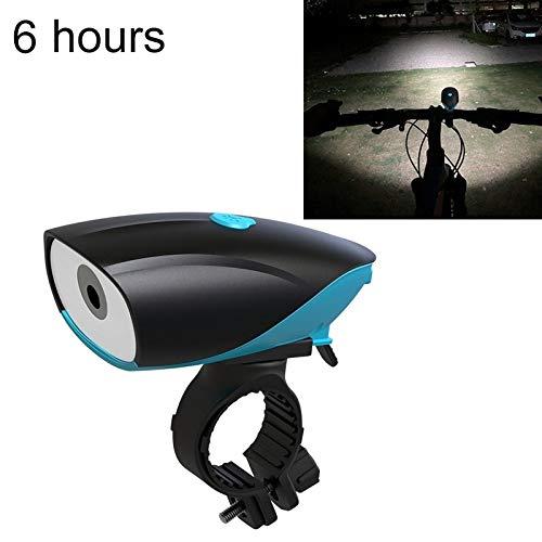Fietslampen met USB-aansluiting, led-fietslamp, 6 uur oplaadbaar (zwart), mountainbike-koplamp.