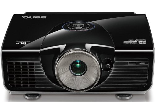BenQ W7500 Full HD 3D Home-Entertainent DLP-Projektor (144Hz Triple Flash, 1920x1080 Pixel, Kontrast 60.000:1, 2x HDMI, 1,5x Zoom) schwarz