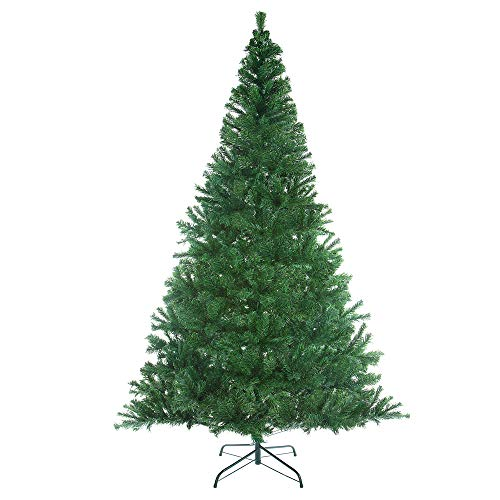 Casaria Árbol de Navidad Artificial Verde de 180 cm de 533 Puntas con Soporte decoración de Interior Fiestas económico