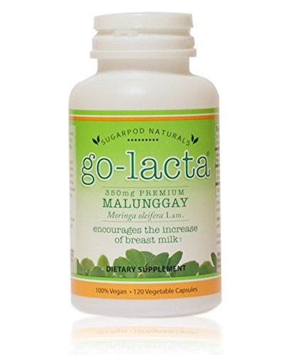 Go-Lacta Premium Malunggay (Moringa oleifera Lam.) Breastfeeding Supplement Clinically Proven To Support Lactation (120 capsules)