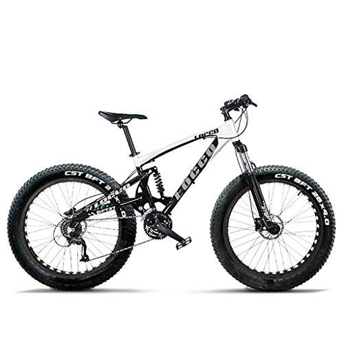 Schnee-Mountainbike 27-Gang Aluminiumlegierung 26 Zoll 4,0 Dicke Übergroße Reifen Fahrrad Doppelstoßdämpfer Mountainbike Stoßdämpfer- / Hydraulische Scheibenbremsen Vorne Und Hinten
