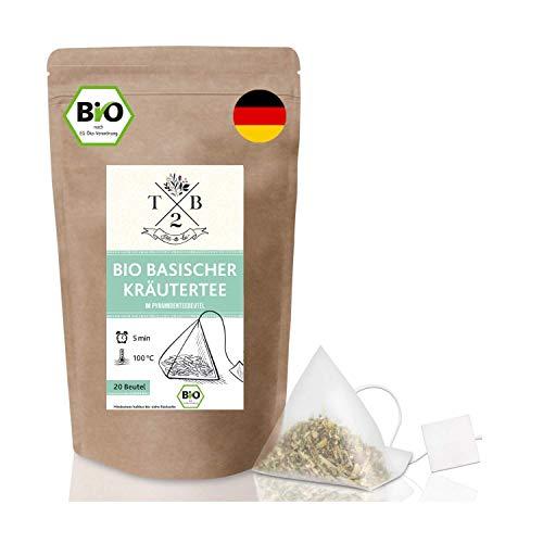 Bio basischer Kräutertee im Teebeutel (20 Stück), begleitend zur Basenkur, mit Brennnessel – Tea2Be