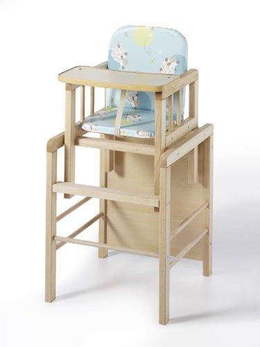 Schardt Till 01 095 03 03 Combo Chaise haute en bois de hêtre huilé Feuille Motif Turquoise